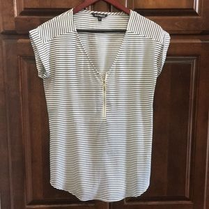 Black and white striped top
